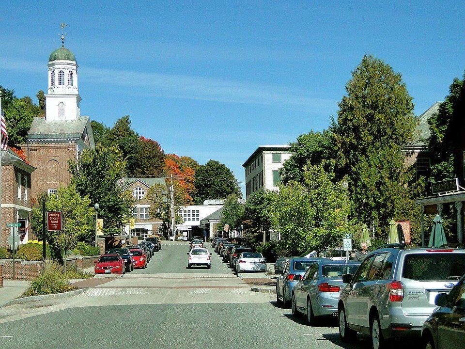 Town, Street, Main Street, Quaint, New Hampshire
