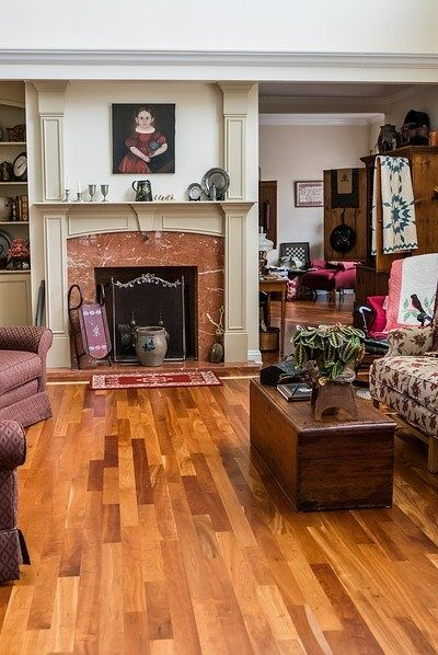 Living Room, Interior Design, Sofa, Wood Floor